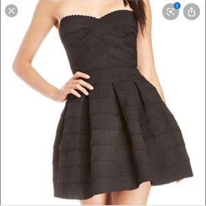 Tube dress flare skirt
